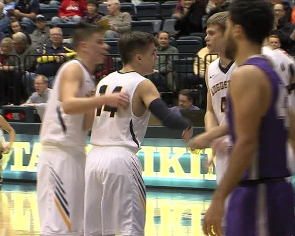 Augustana Basketball goes to 4-0 after a 40 point win.
