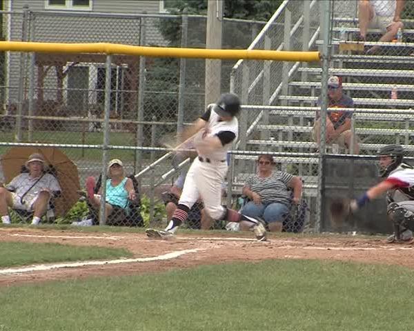Assumption Baseball rolls to a 10-0 win on June 17.