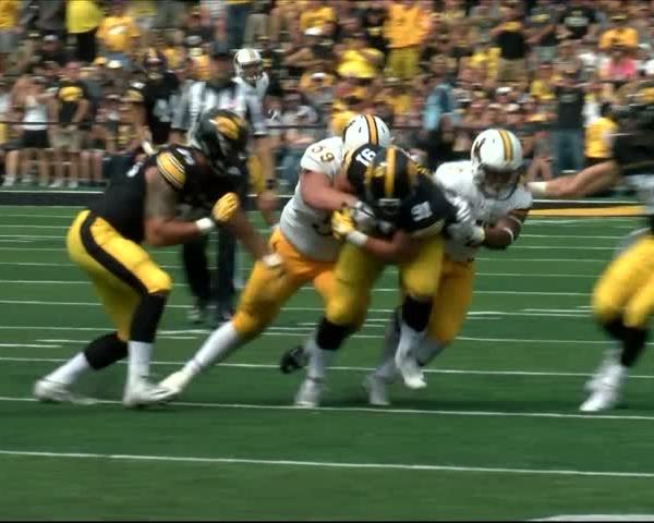 Hawkeyes defensive line impressing early on