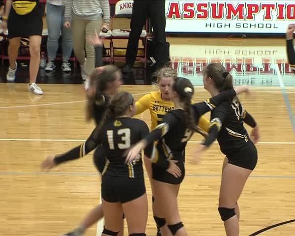 Bettendorf volleyball defeats Assumption