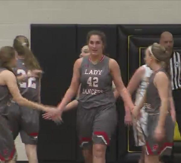 North Scott Girls win 49-39.