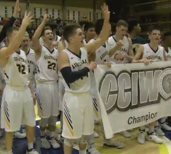 Augustana men clinch share of CCIW title with win over Elmhurst