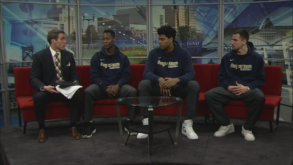 Augustana Men's Basketball Players on Fox 18 Sports Sunday - Part 1