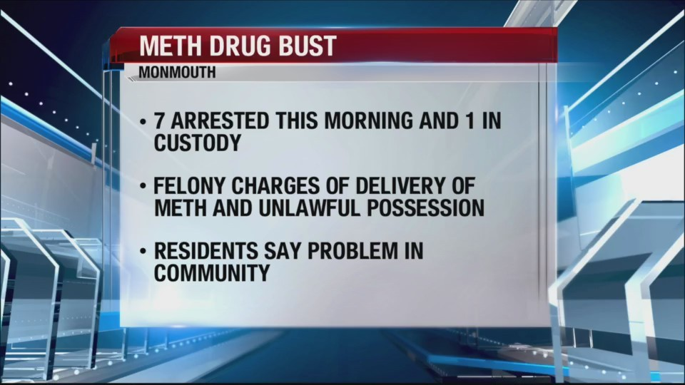 7 arrested in Monmouth meth trafficking investigation
