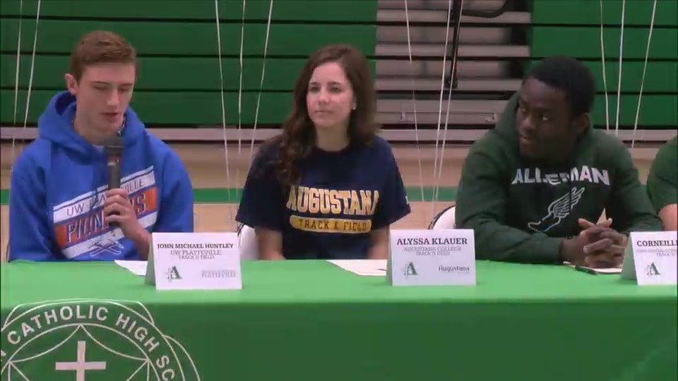 Alleman spring signing day