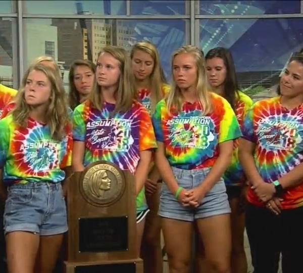 Assumption girls soccer on Fox 18 Sports Sunday