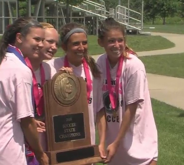 Assumption softball wins third straight state title
