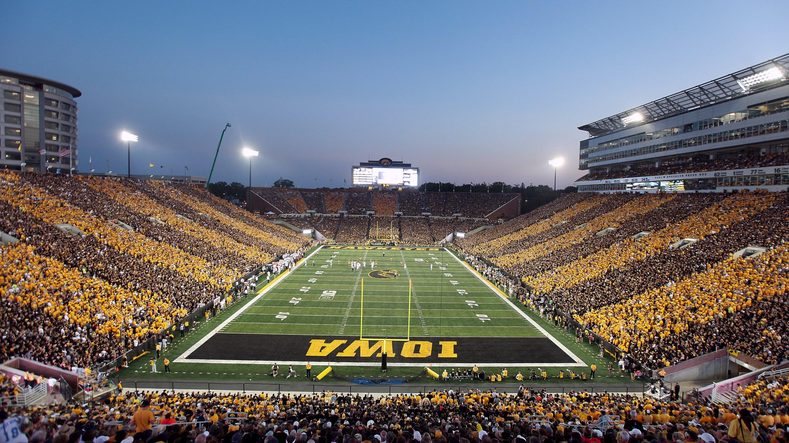 Kinnick Stadium black and gold