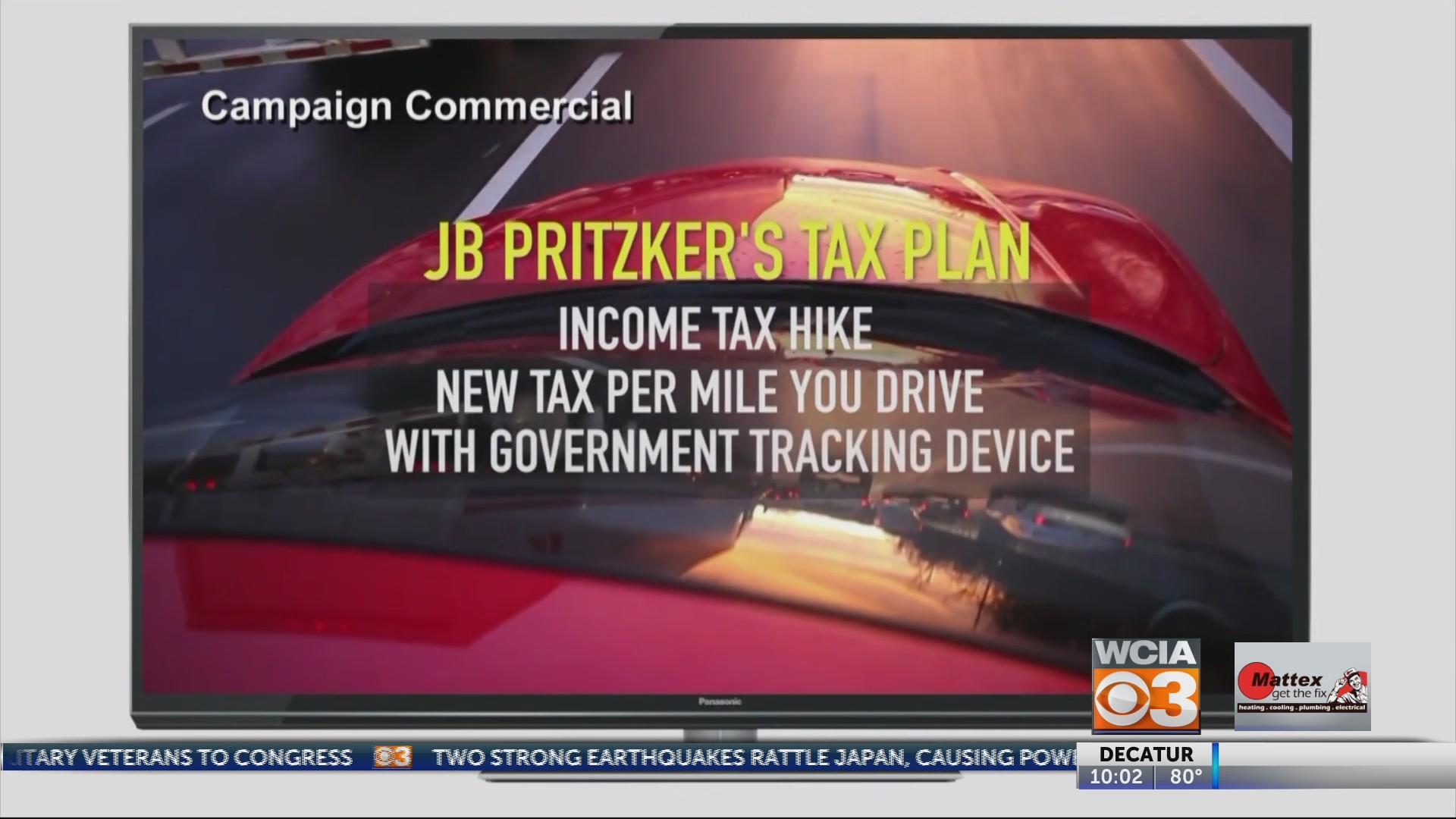 Pritzker floats mileage tax, Rauner hammers him