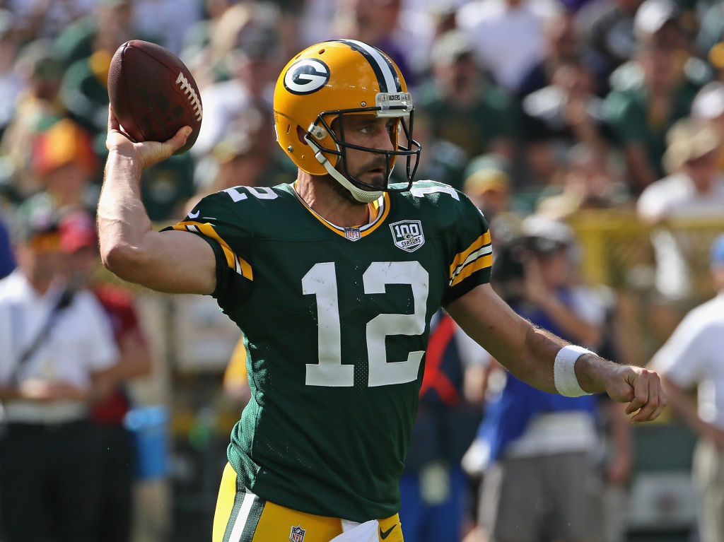 Packers Aaron Rodgers vs Vikings 2018