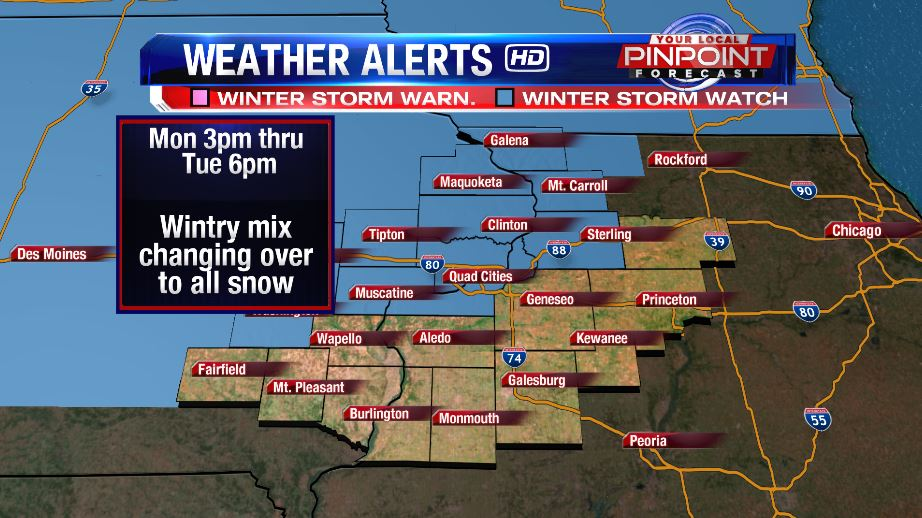 Next Winter Storm Arriving Monday Into Tuesday
