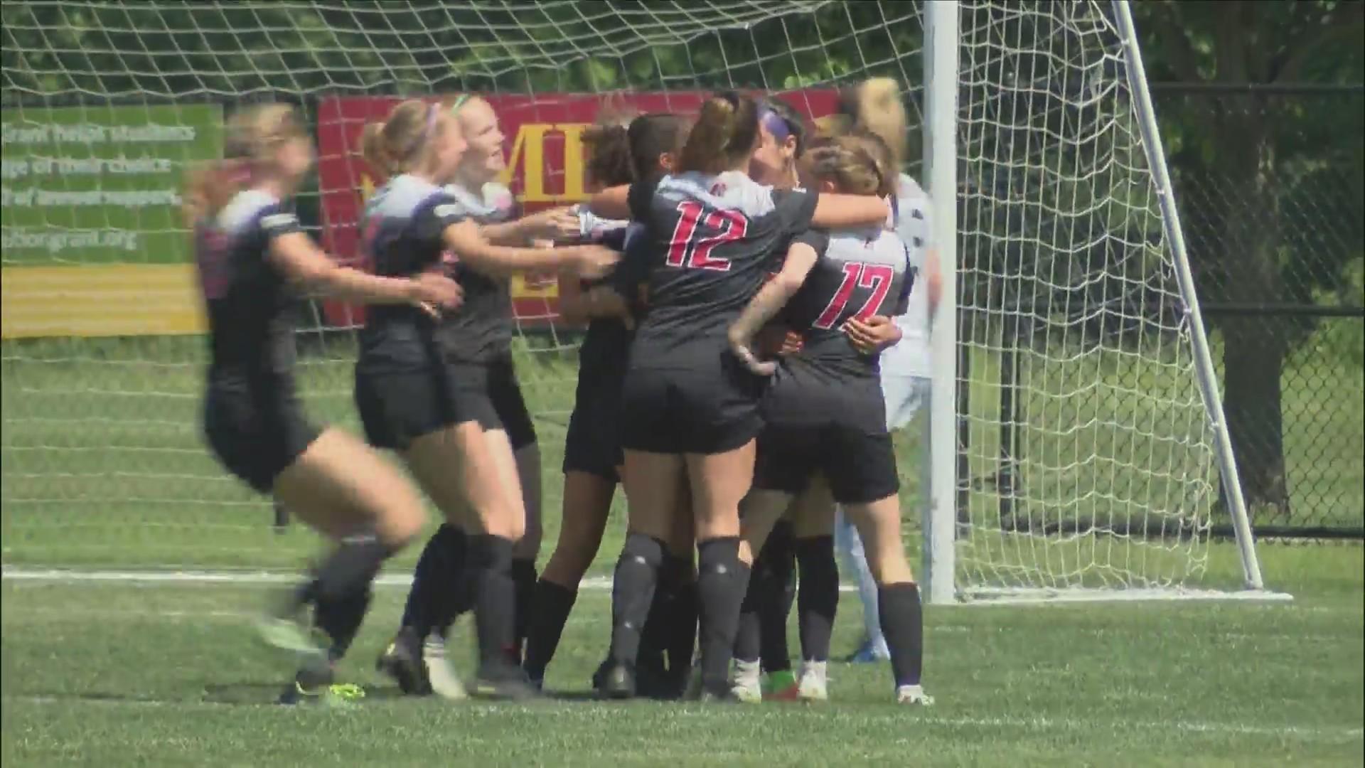 Assumption Girls Soccer wins 2-0 over Gilbert.