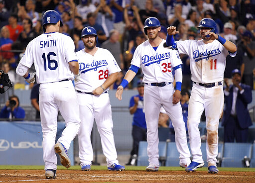 Will Smith, Tyler White, Cody Bellinger, A.J. Pollock