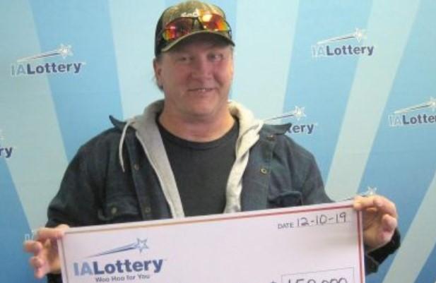 Ron Vernon Jr., 54, won $150,000 in Iowa Lottery.