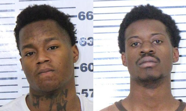 (From left) Jermonni Parks, 18 and Etienne Irankunda, 20, both of Rock Island were arrested for armed robbery by the Davenport Police Department on Thursday, January 9, 2020.