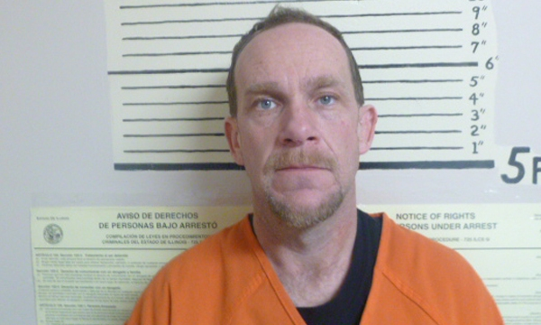 Christopher J. Pierce, 44, of Oquawka, Illinois was arrested by the Henderson County Sheriff's Office on February 14, 2020 for a residential burglary.