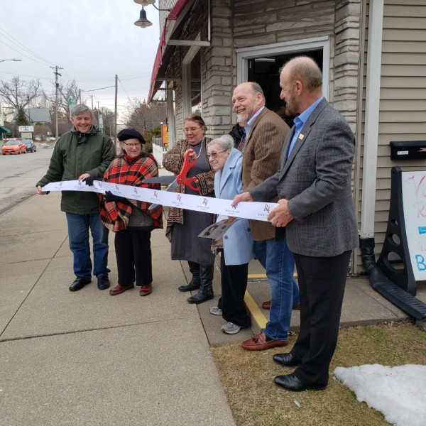 Ribbon cutting at the American Doll & Toy Museum.