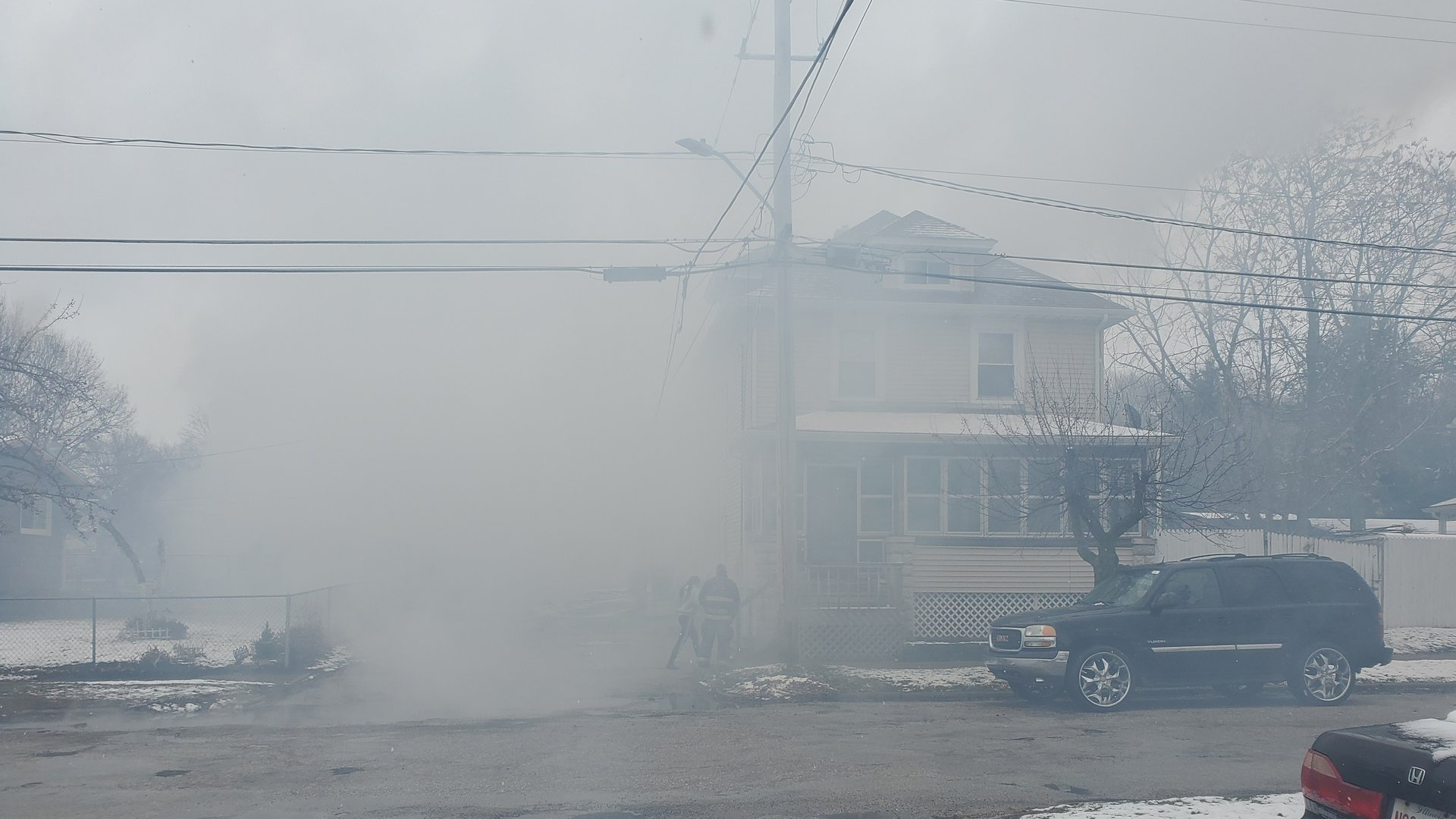 Crews battle garage fire in Moline on March 14 (photo: Ryan Risky, OurQuadCities.com)