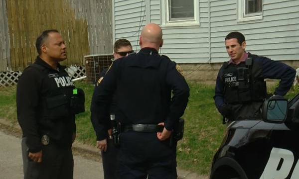 Moline Police make arrest a man for suspicious activity on April 2, 2020. (photo: Ryan Risky, OurQuadCities.com)