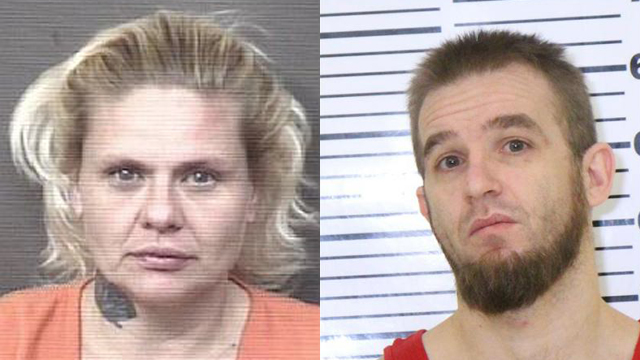 (From left to right) Alisha Cook (aka Alisha Nichols), 42; Robert Drew Vaughn, 35.