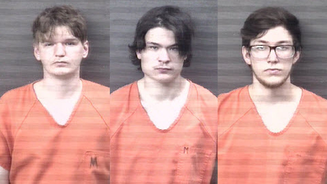 (From left to right) Austyn M. Cochuyt, 20, of Moline; Trystan C. Nelson, 20, of Moline; Seth M. Barton, 23, of Moline.