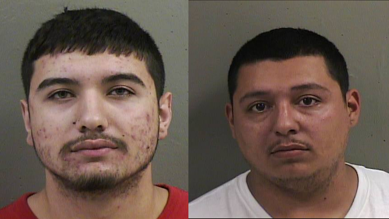 (From left to right) Peter Martinez, Jr., 18, of Muscatine, Iowa; Jeremy R. Likes (A.K.A. Jeremy Cardenas), 27, of Galesburg, Illinois.