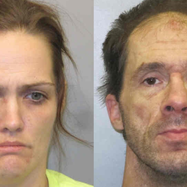 (From left to right) Ashley M. Newsom, 33, of Burlington; Joseph A. Rollins, 40, of Burlington.