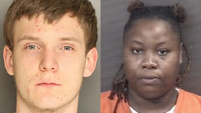 (From left to right) Curtis Fussell, 21; Ashley Dillon, 22.