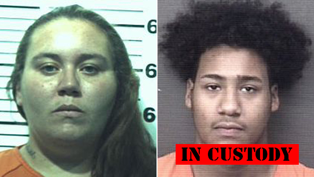 (From left to right) Jessica Smith, 28; Thadeus Sincere Gray, 19.