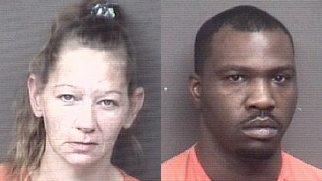 (From left to right) Jessica Franks, 41; Clarence Washington, 30.