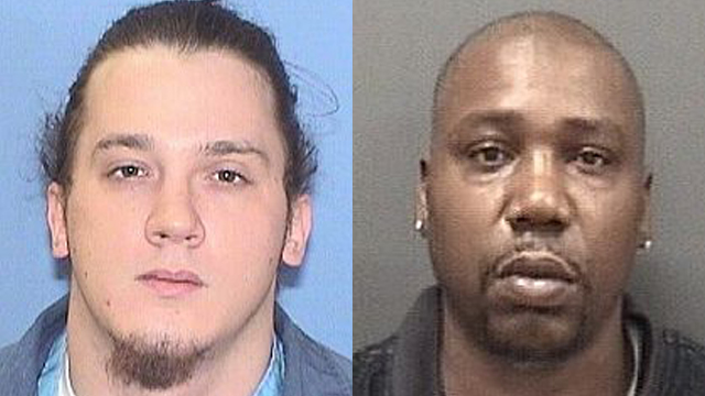 (From left to right) Damion Moenck, 22; Keith Richardson, 42.